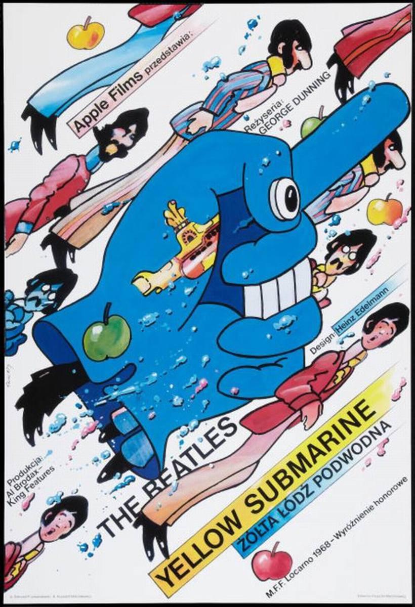 Yellow Submarine (1968) Polish poster