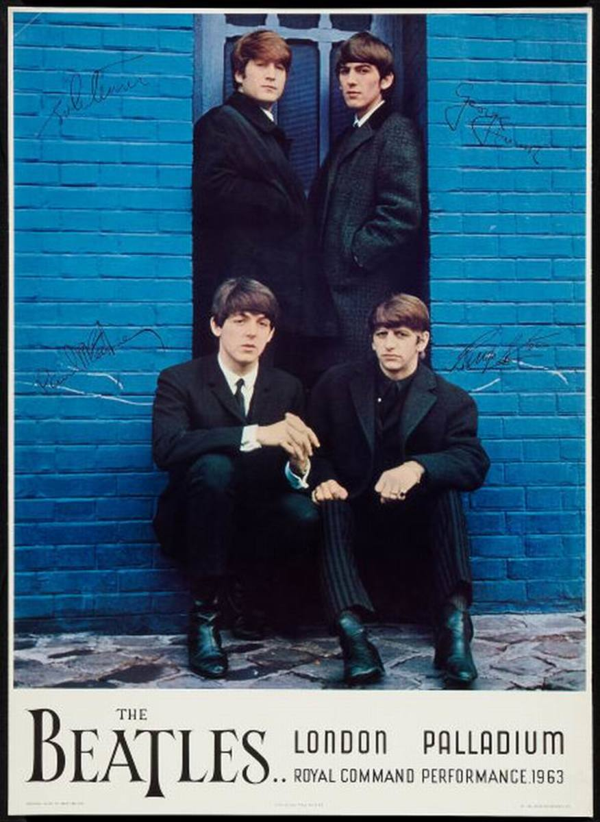 Beatles at the London Palladium (1964) poster