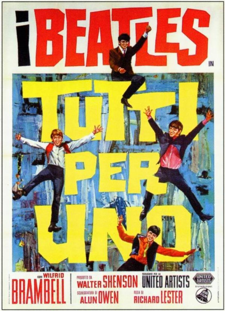 A Hard Day's Night (1964) Italian poster