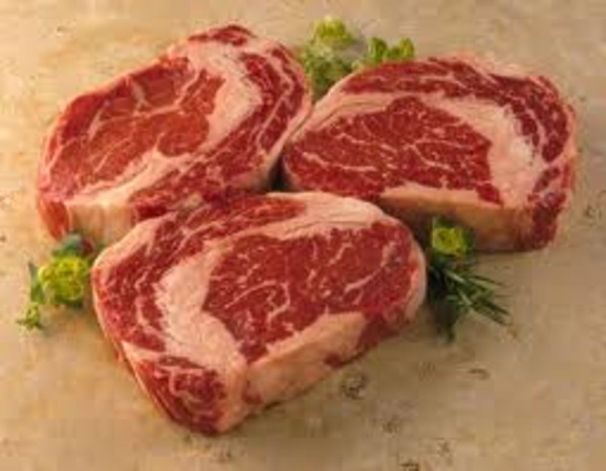 Fact- The Ribeye Steak is also called a Scotish Fillet, it come from the rib section of a cow.