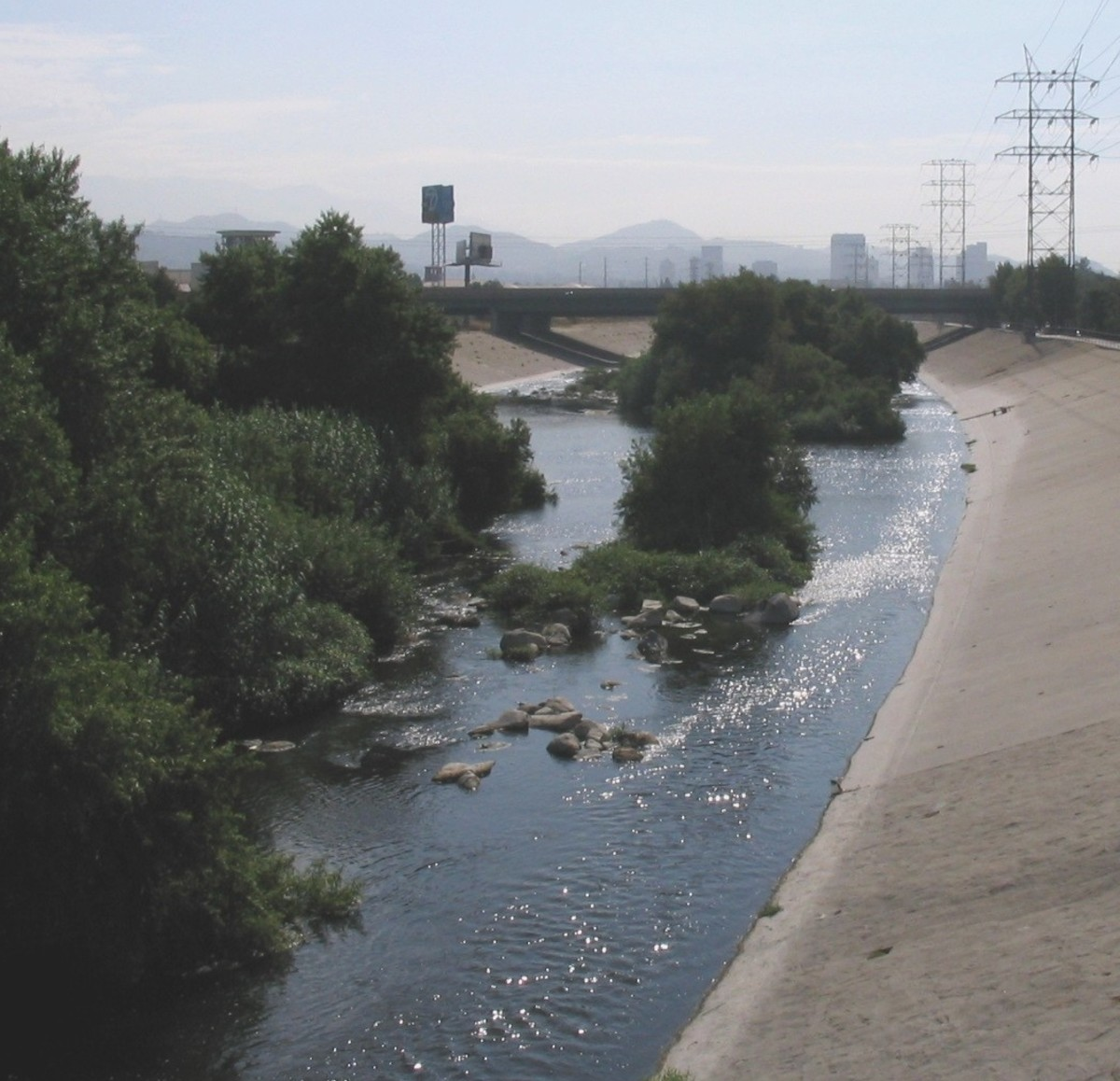 Los Angeles River in Glendale, Ca.