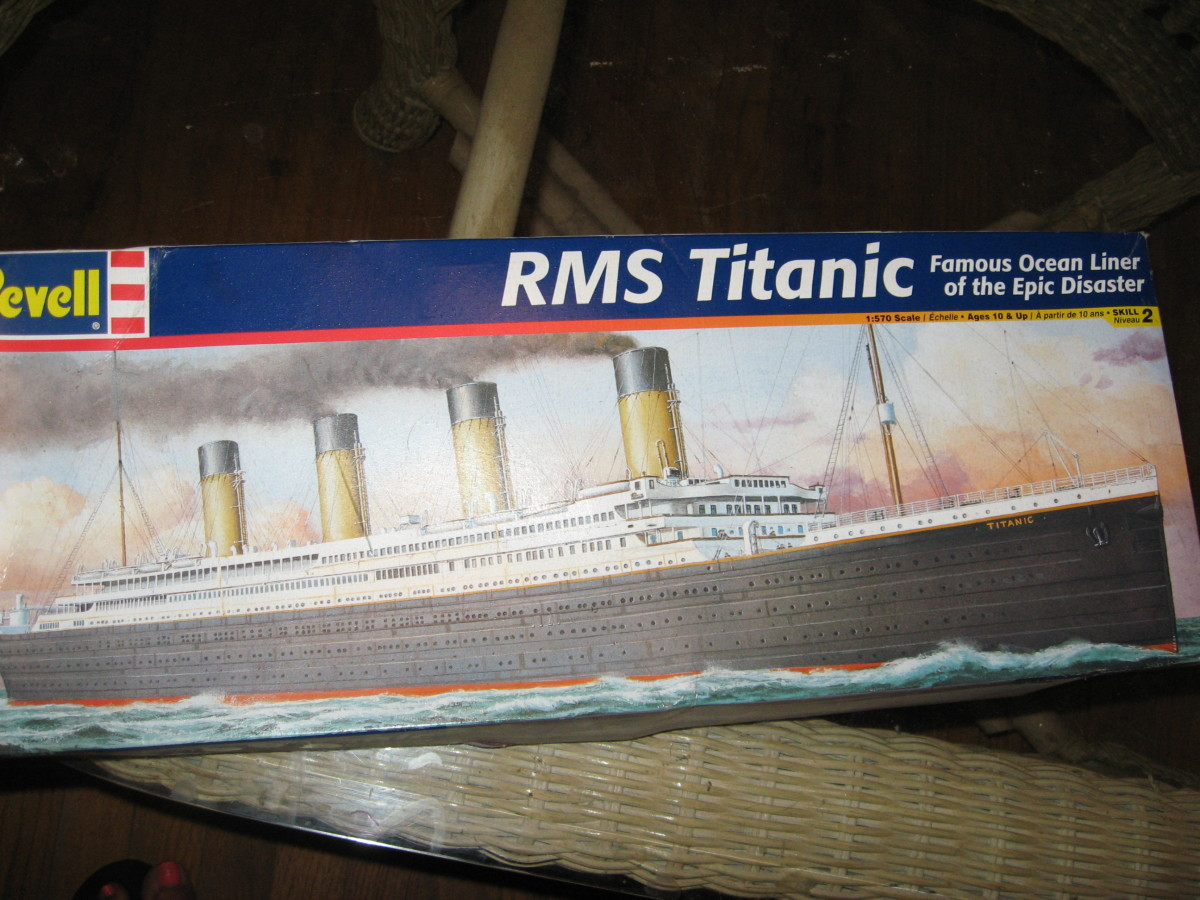 Some plastic model ships are surprisingly detailed.