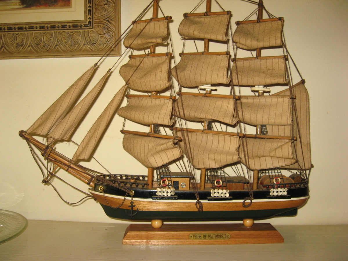 One of my model ships.