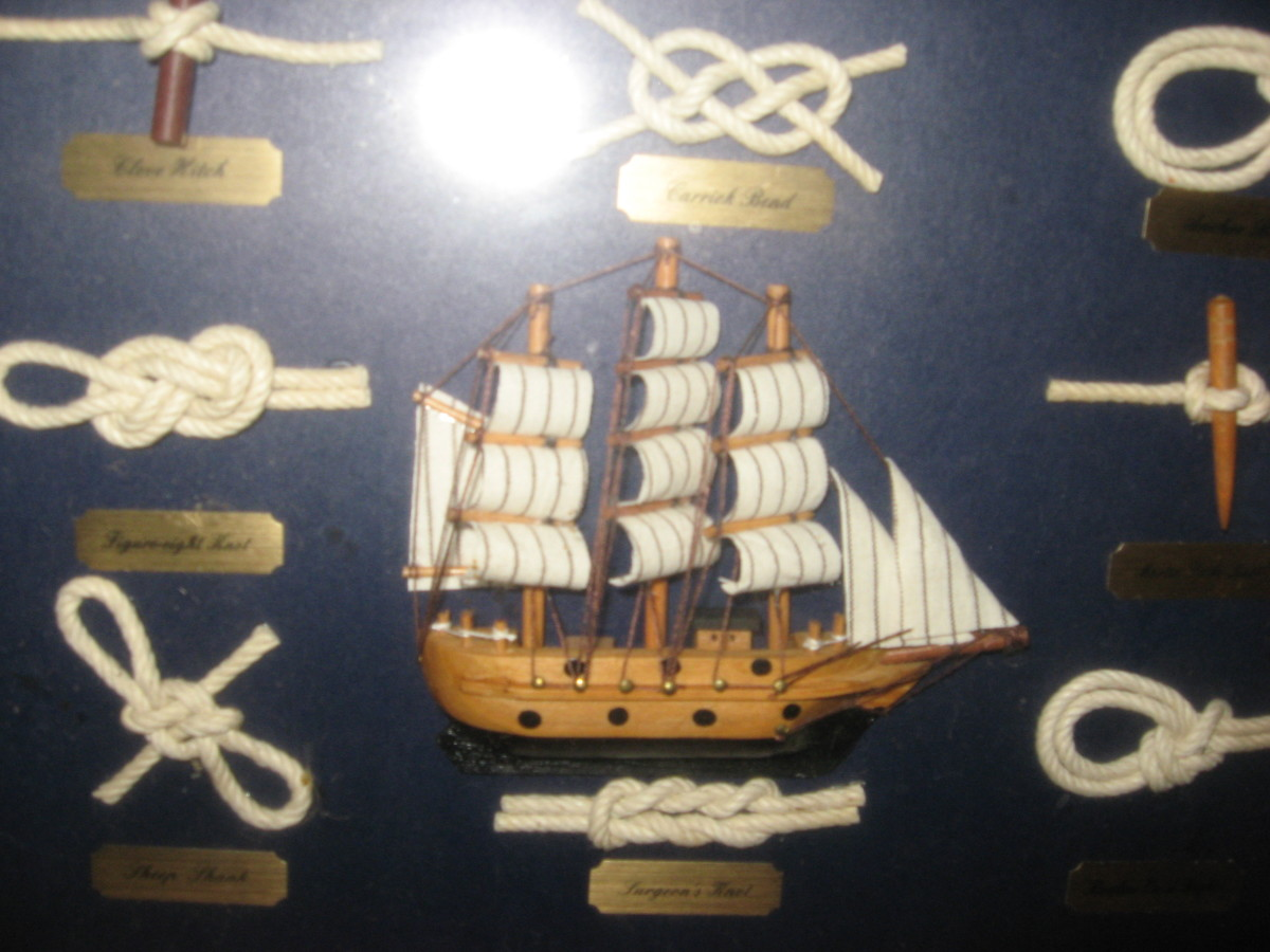 Wooden model ships come in all sizes.