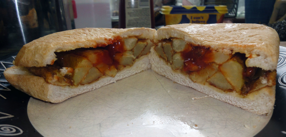 The British chip butty sandwich