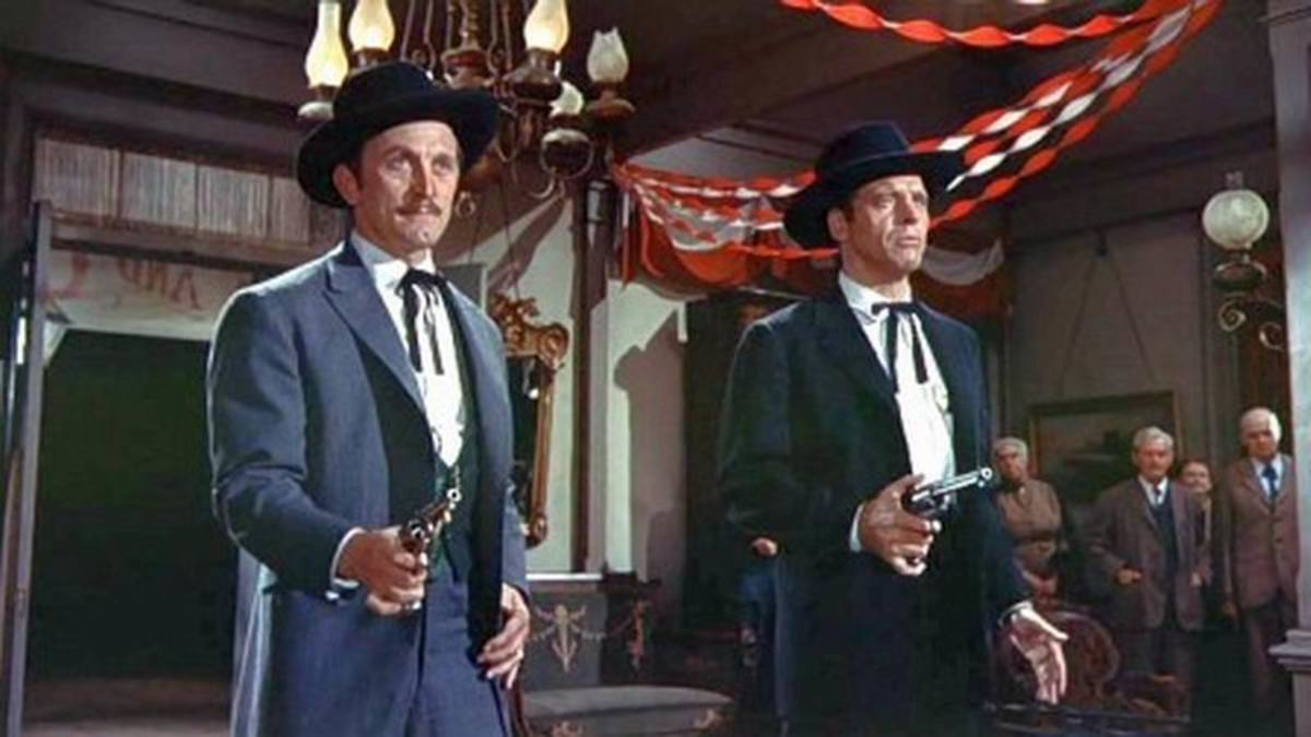 Burt Douglas and Kirk Lancaster in Gunfight at the OK Corral