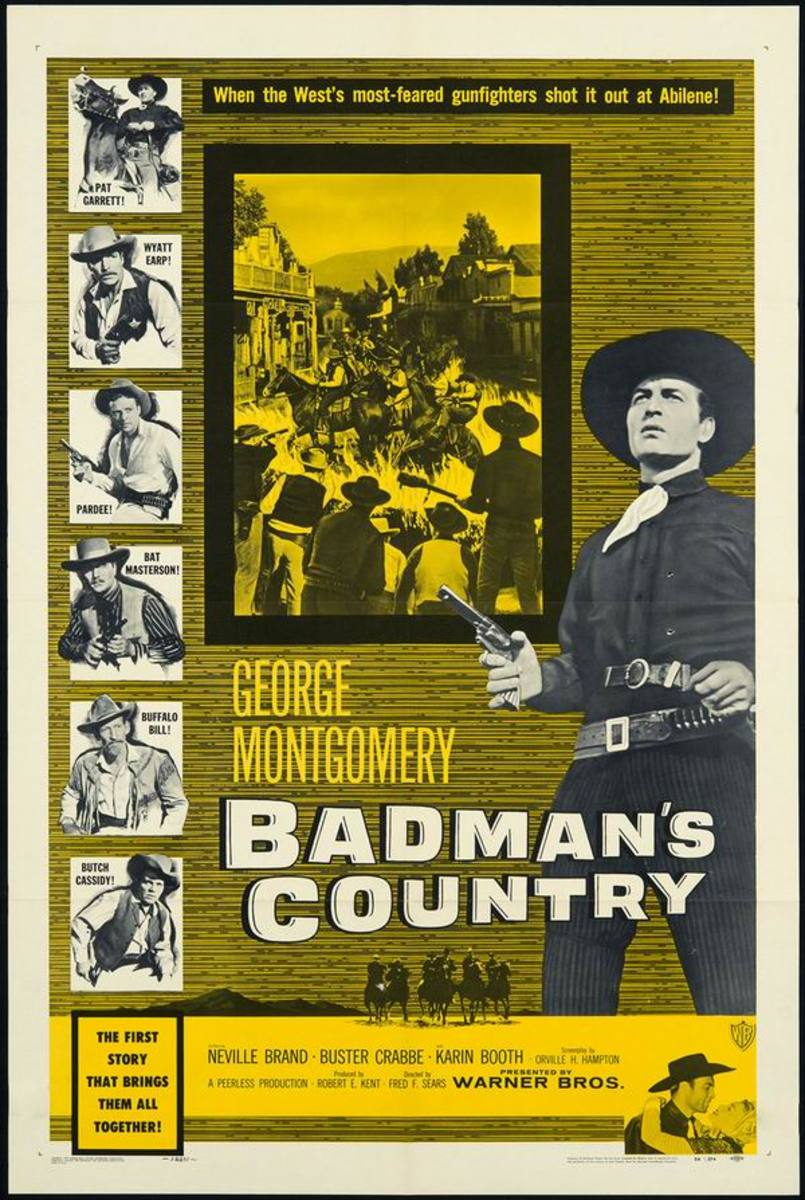 Badman's Country (1958) poster