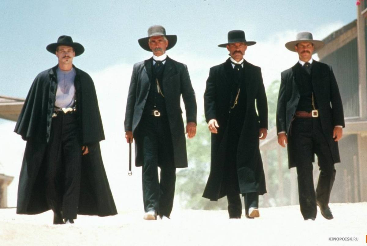 Val Kilmer, Sam Elliott, Kurt Russell and Bill Paxton in Tombstone