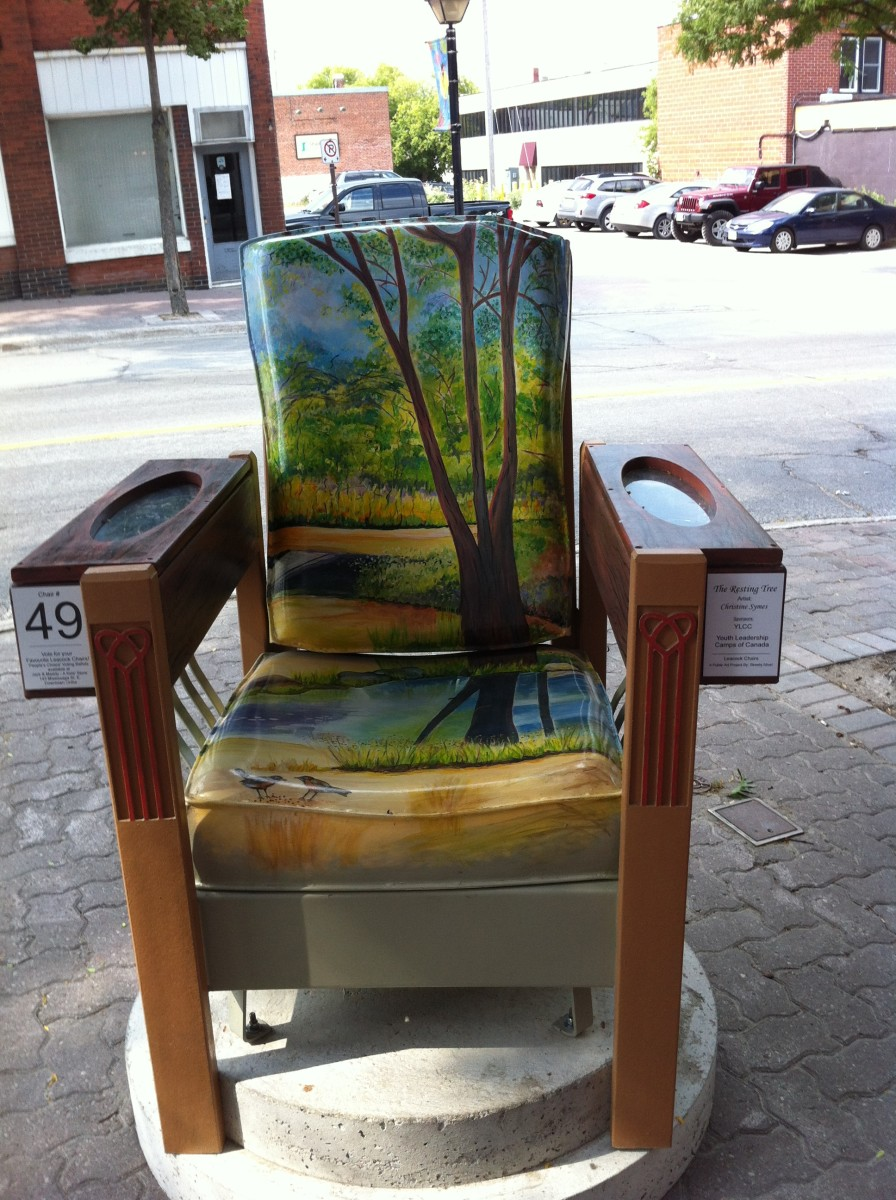 One of my favorites. The seat of the chair catches a reflection in the lake from the back of the chair.