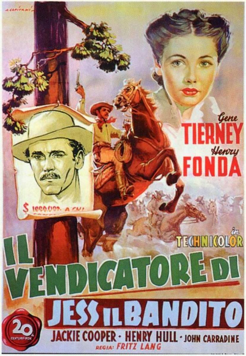 The Return of Frank James (1940) Italian poster
