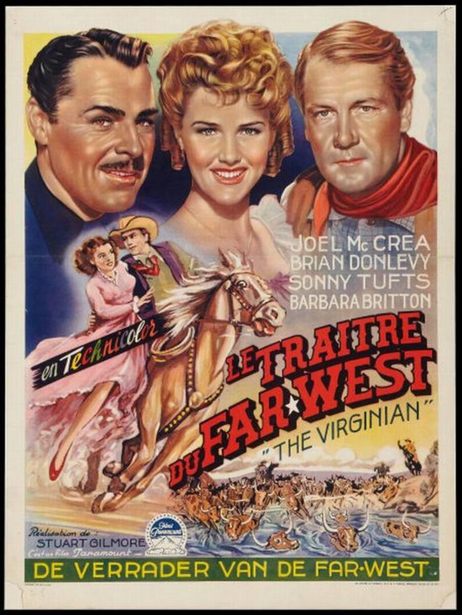 The Virginian (1946) Belgian poster