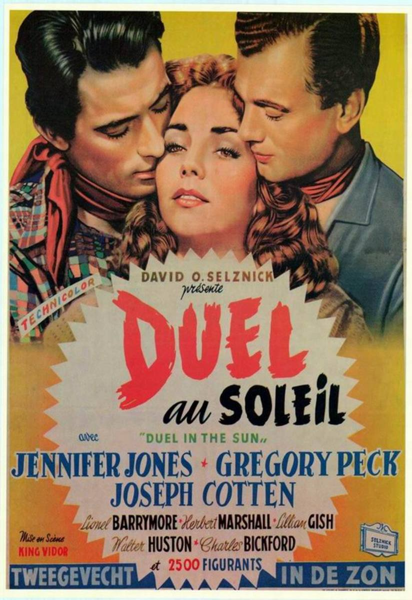 Duel in the Sun (1946) Belgian poster