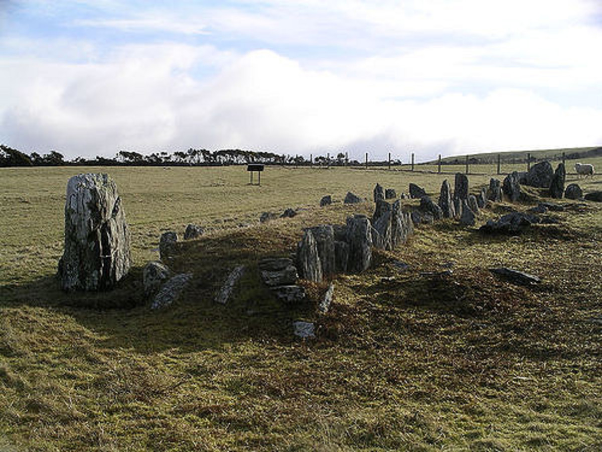 The Braaid longhouse foundation remains