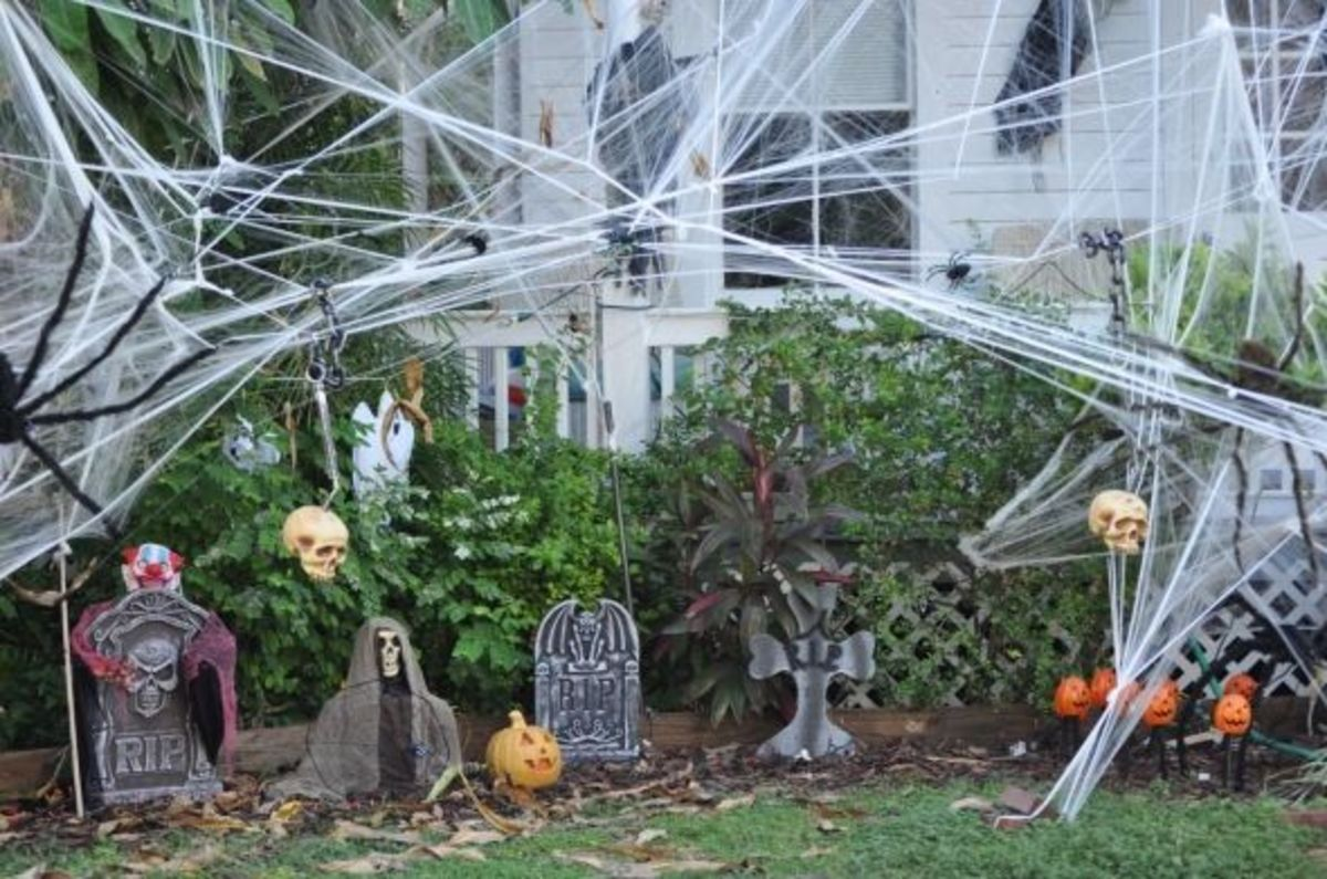 Part of the Halloween scene in Key West house.