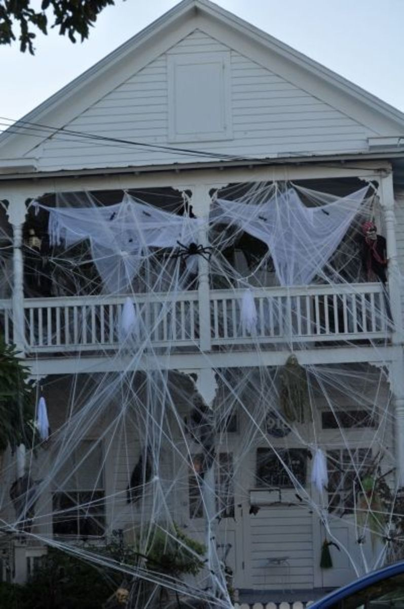 My favorite Halloween decorated house in Key West, Fl