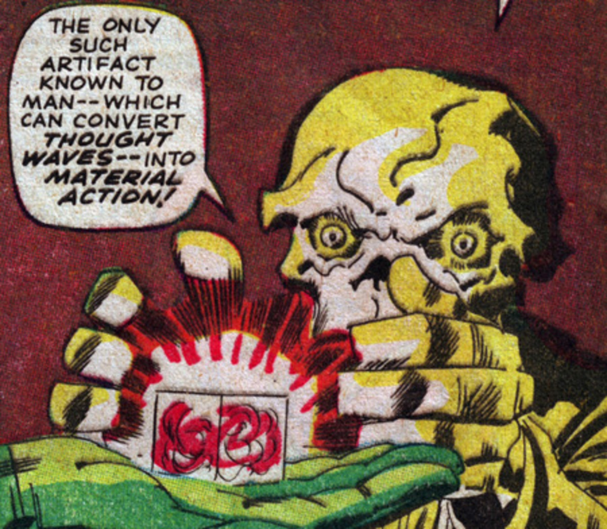Red Skull with the Cosmic Cube