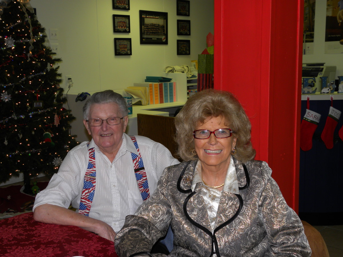 mom and dad - Christmas party 2012
