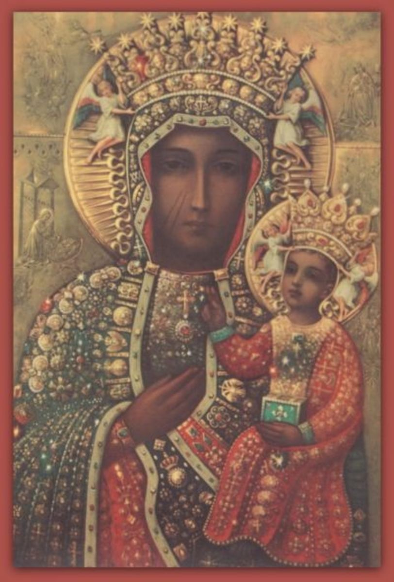 Lady of Czestochowa (The Black Madonna of Czestochowa) in Ritual Dress