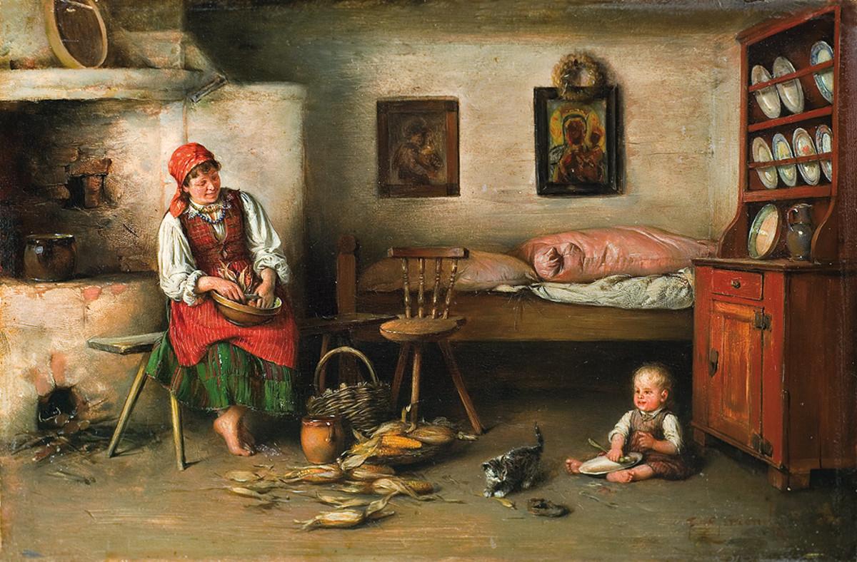 Oil Painting on Panel by Franciszek Ejsmond (1859-1931) Public Domain
