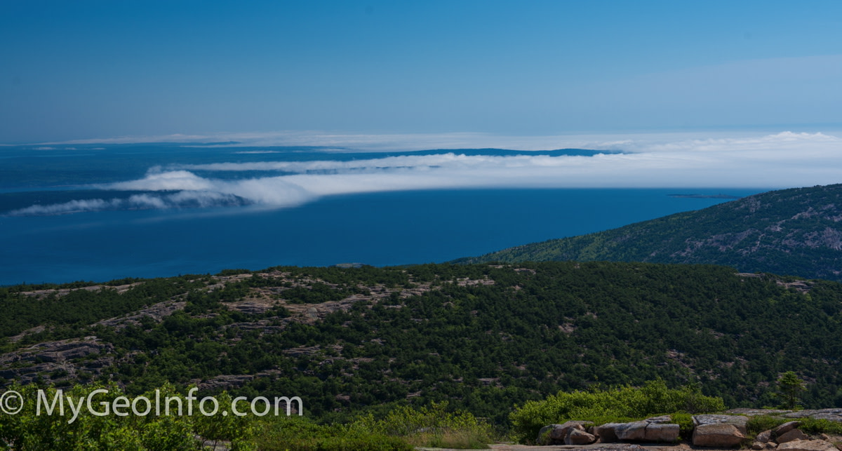 Photo of Cadillac Mountain, Acadia National Park, Bar Harbor Maine.