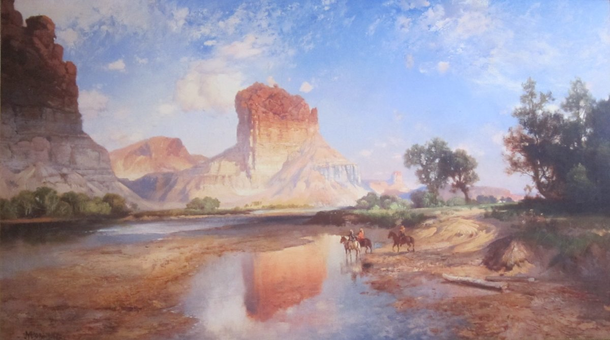 O'Neil Butte, Grand Canyon, oil on canvas painting by Thomas Moran