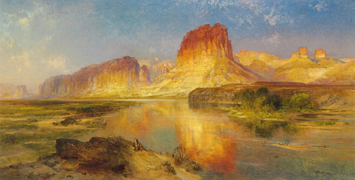Green River of Wyoming 1878 by Thomas Moran [Public domain],