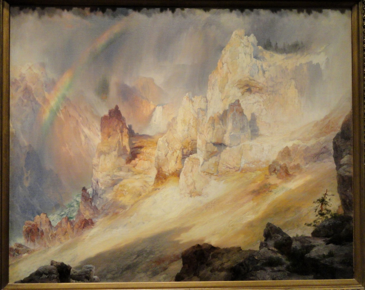 Rainbow over the Grand Canyon of the Yellowstone by Thomas Moran