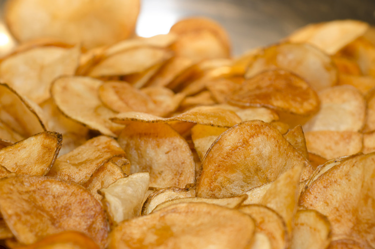 Make homemade potato chips on the stove – healthier than brand products.