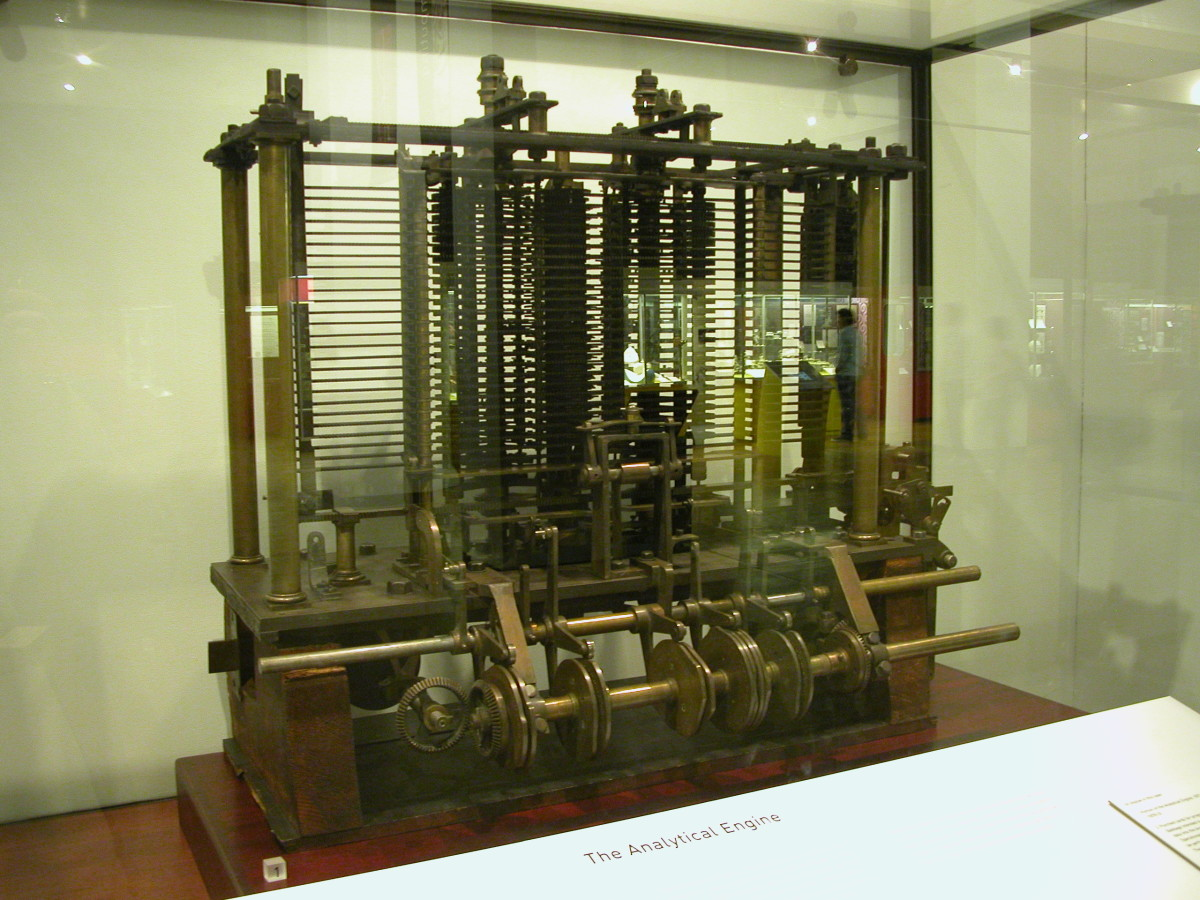 Babbage's Analytical Engine as displayed in the London Science Museum