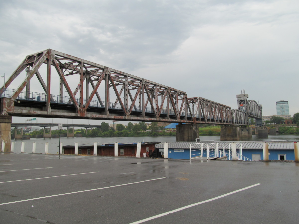 Junction Bridge with the roof of the Martime Museum