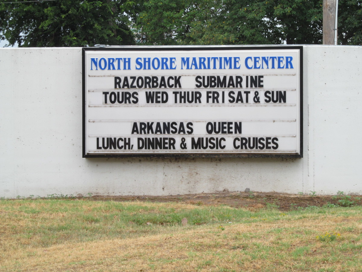 The Front Sign for the North shore Maritime Center