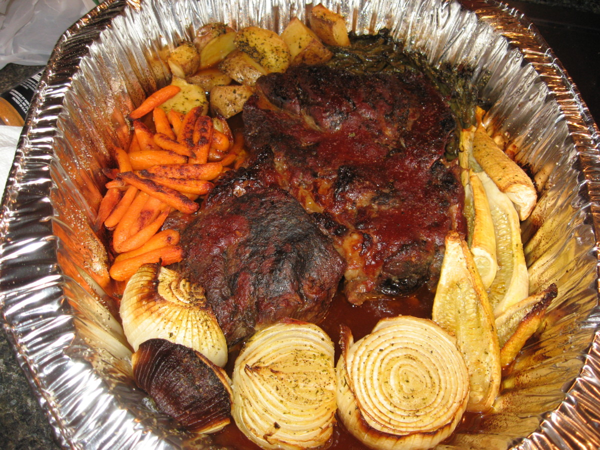 Recipe for Roast Beef - with Roasted Vegetables and Potatoes