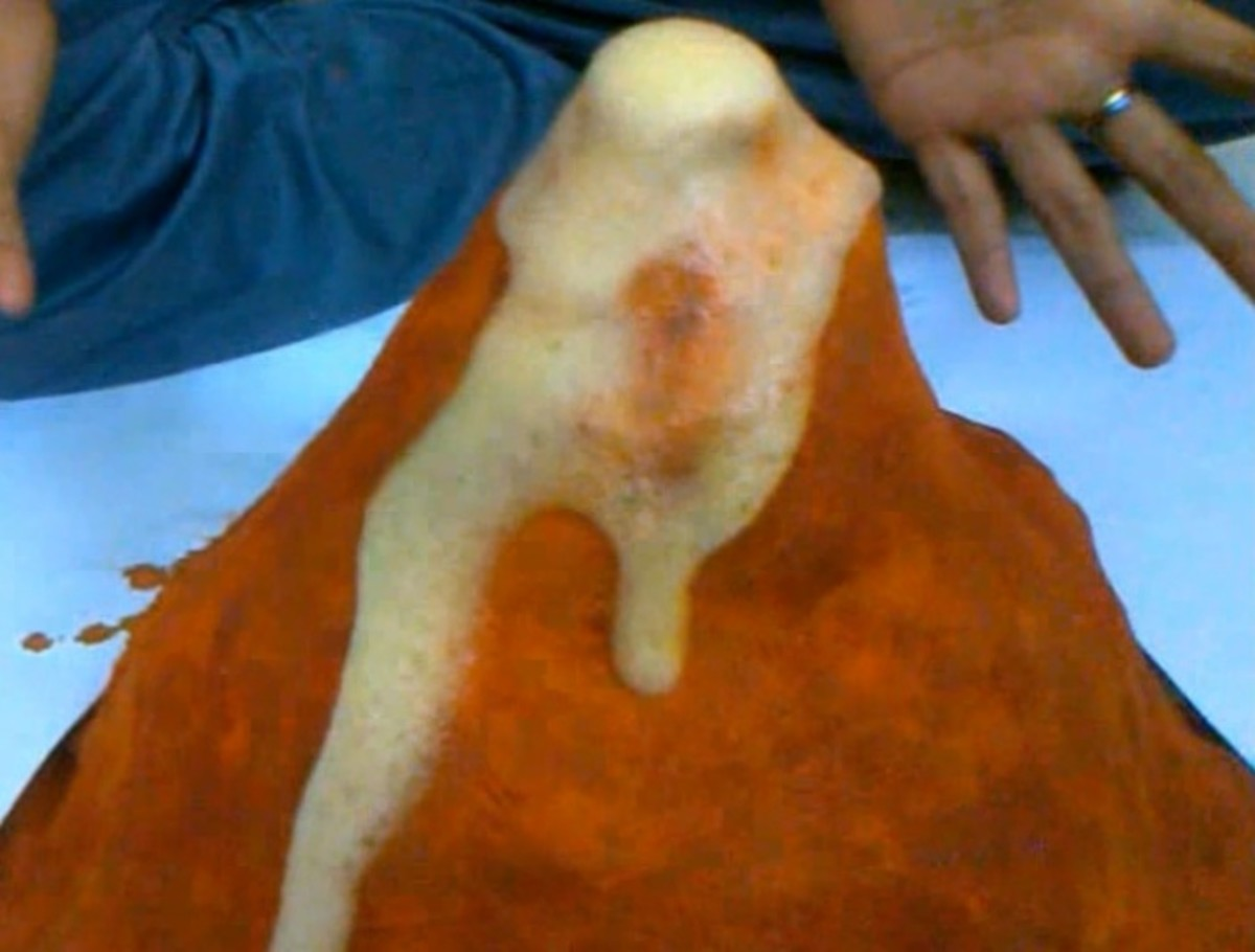 How to make a Volcano - Easy Erupting Volcano for Science project