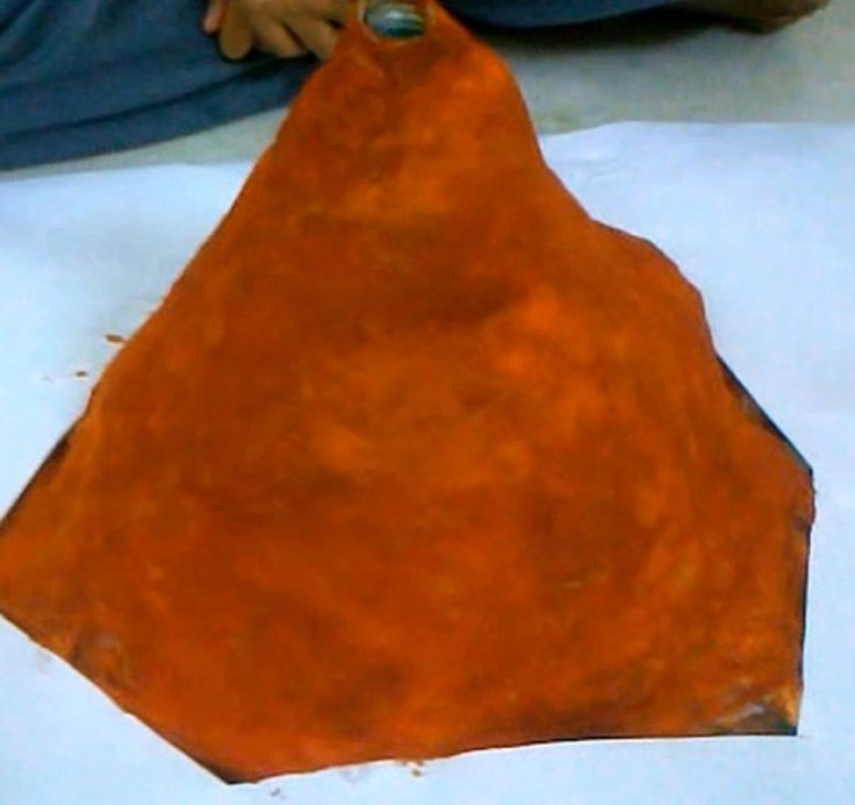 Step 7 to make a volcano