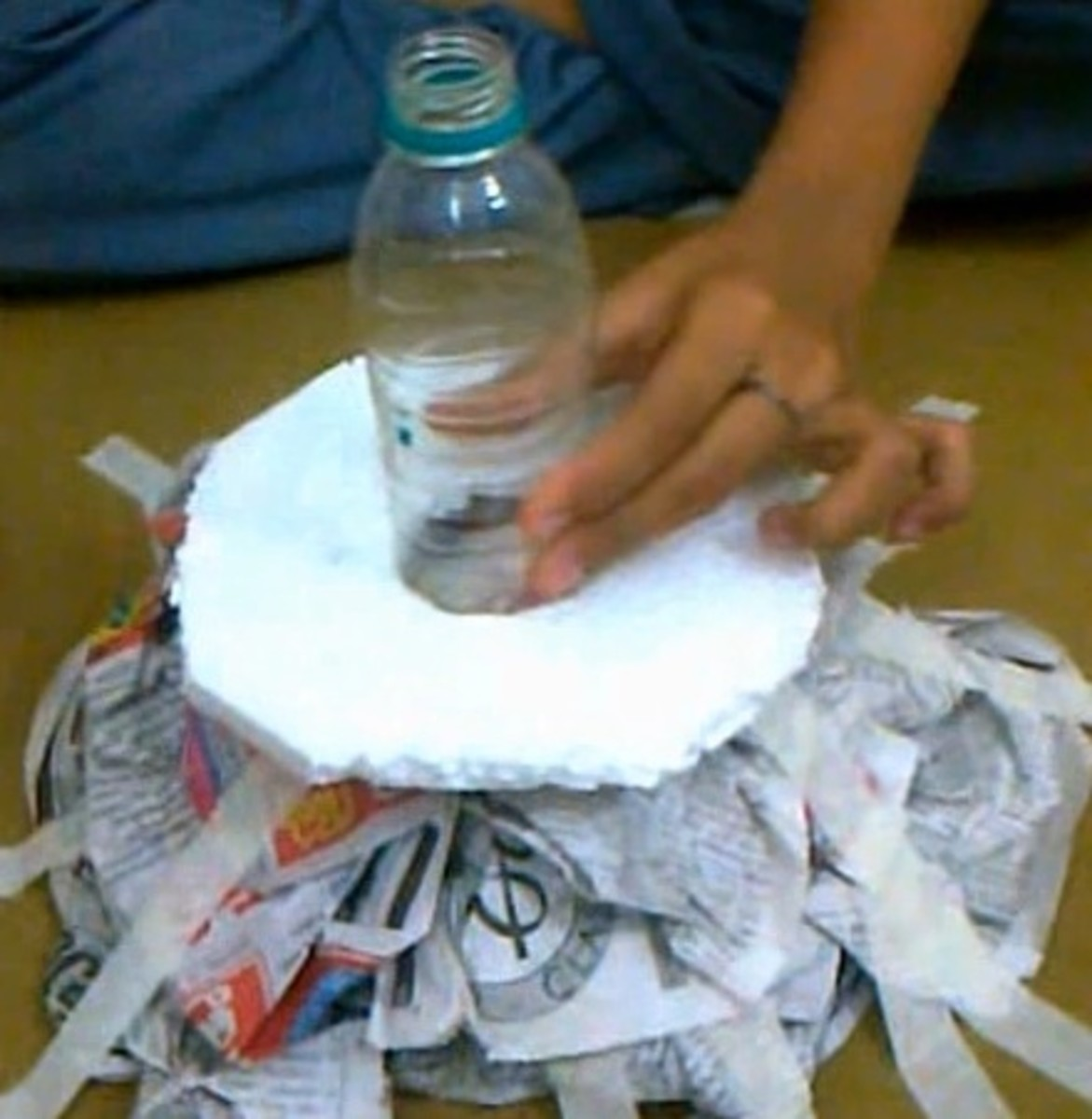 How To Make A Food Pyramid Model With Thermocol