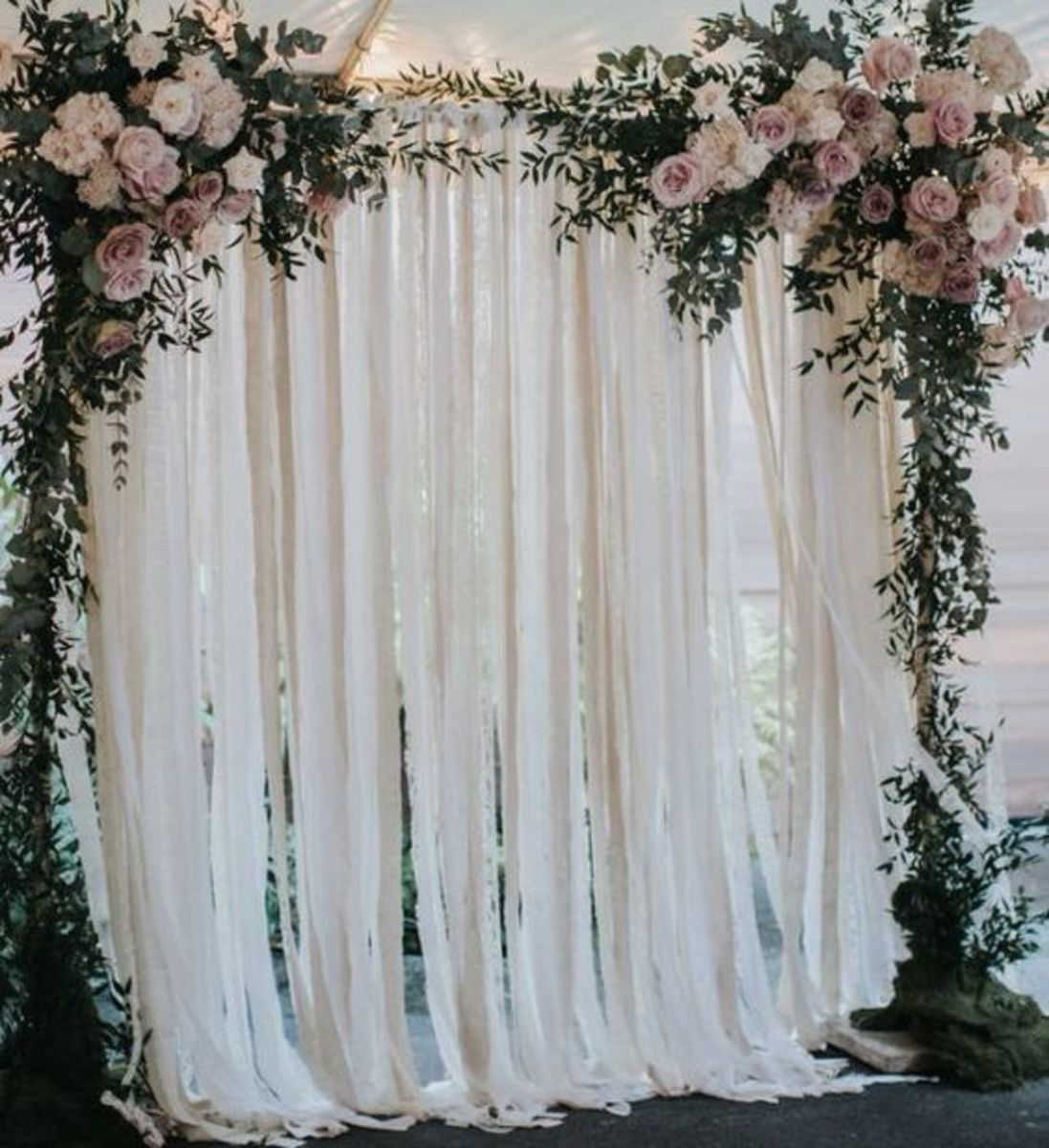 Lace by the yard can be used to create a backdrop for your ceremony or photo shoot