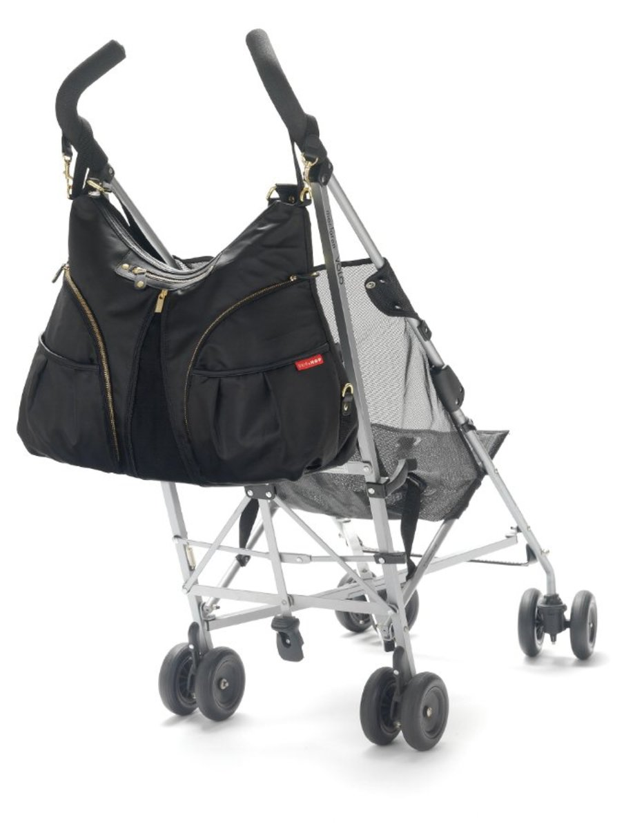 Fits a stroller comfortably.
