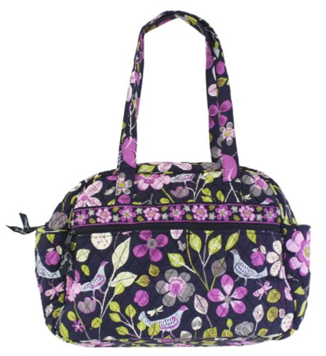 Vera Bradley Baby Bag in Floral Nightingale - Back- Back