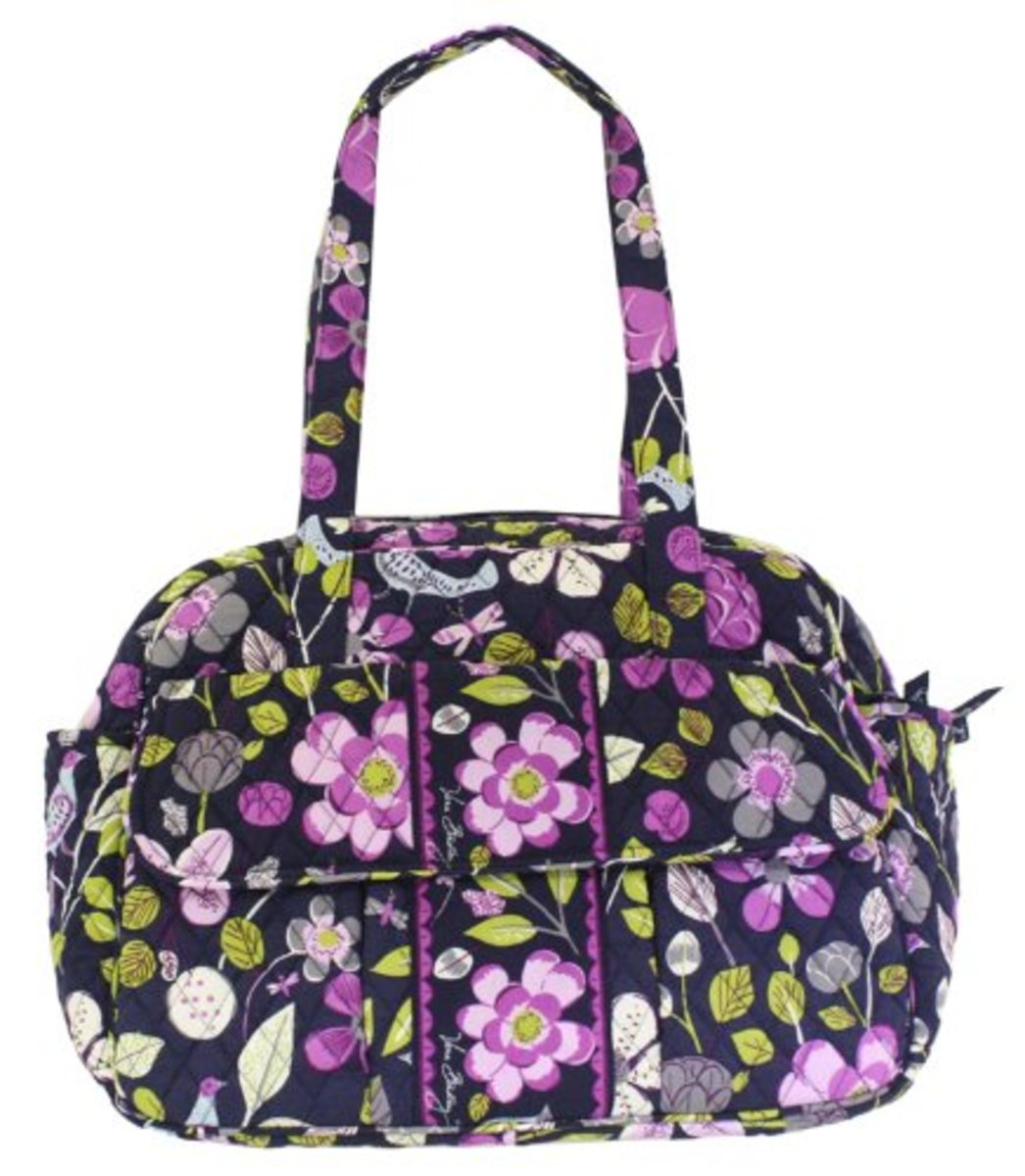 Vera Bradley Baby Bag in Floral Nightingale - Front