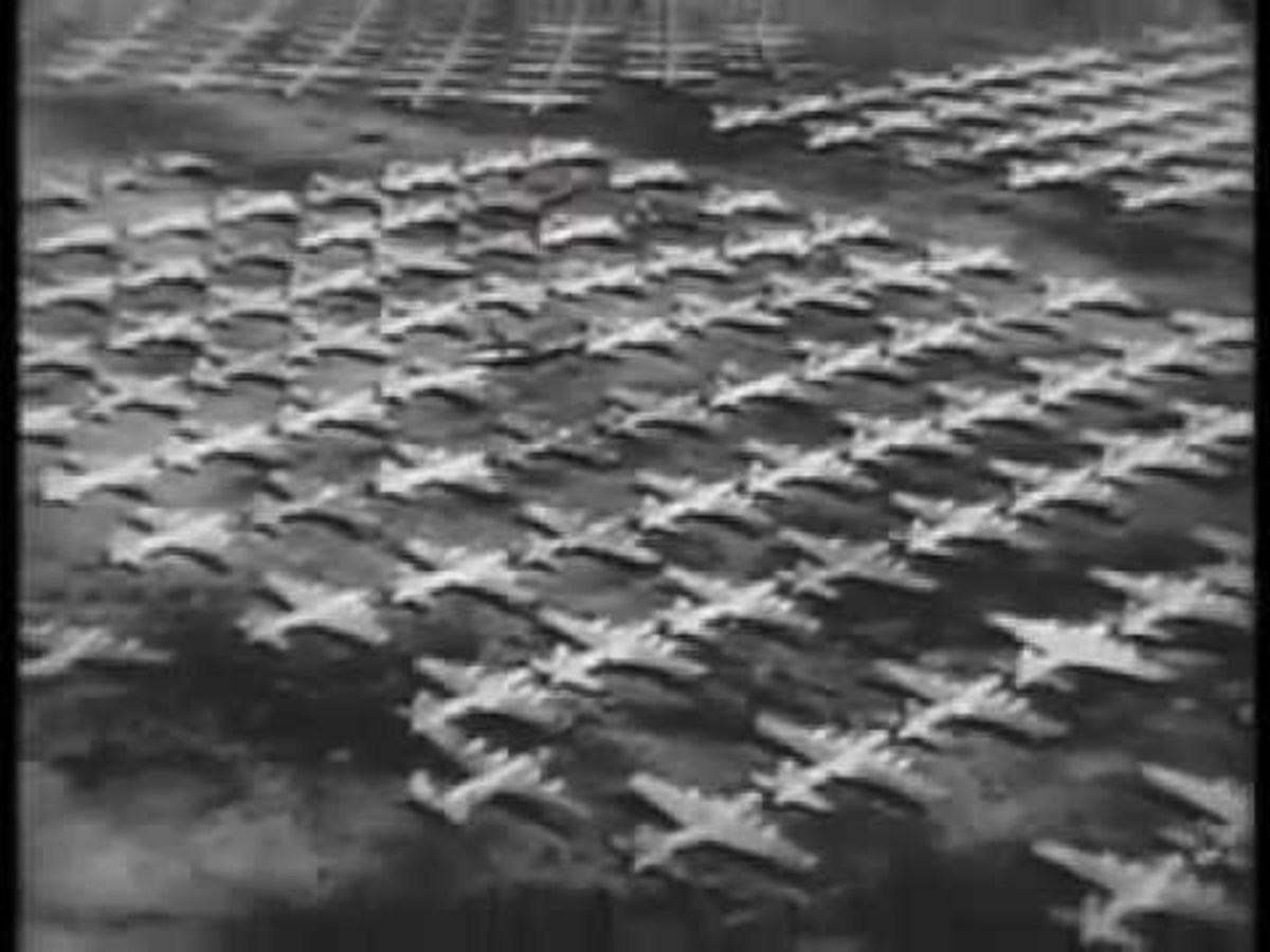 1945 Mothballed Aircraft B-29 Superfortress's