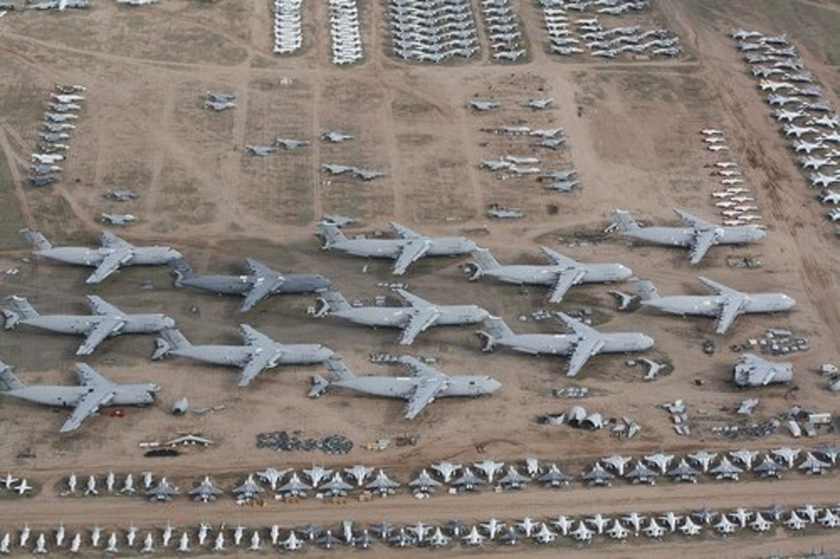 Aircraft Graveyards, Junkyards, Bone Yards & Cemeteries, Mothballed Military Planes Soviet & American Airplane