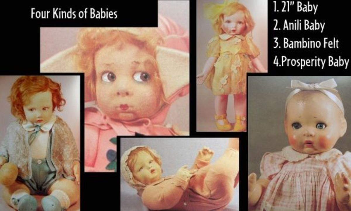 Here are the four kinds of Lenci baby dolls.