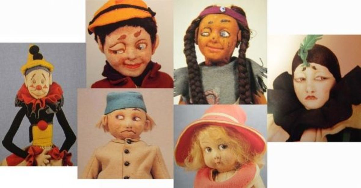 These are some examples of the earliest Lenci dolls from 1919.
