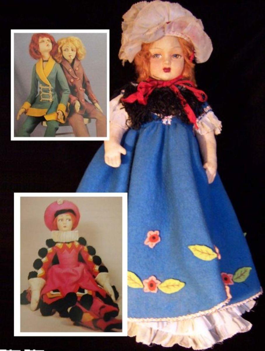 Lenci's boudoir dolls have a unique tilt to their heads.