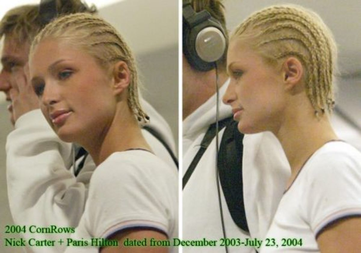 Paris Hilton with cornrows/braids