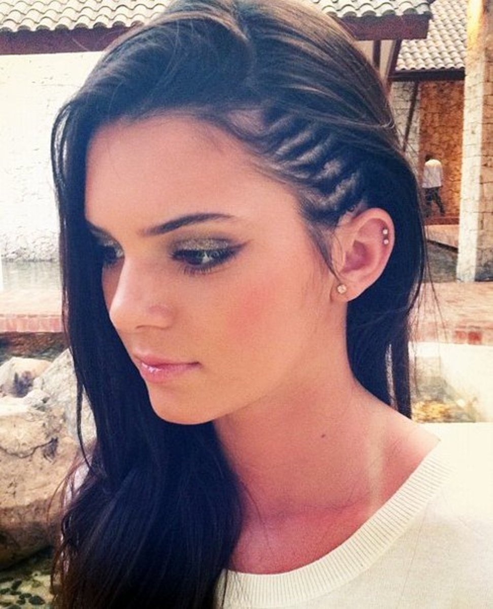 Kendall Jenner with Cornrows, Tiny French Braids