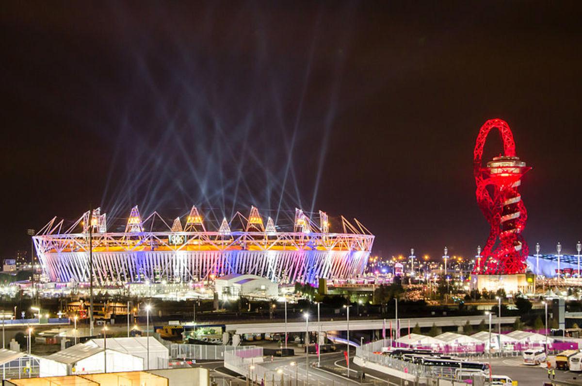 Olympic Stadium during the opening ceremonies