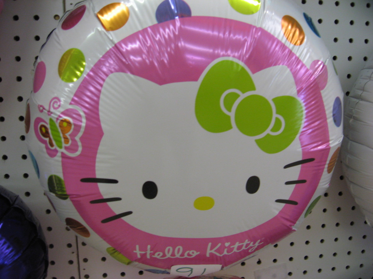 Hello Kitty Balloons are great for little girls.