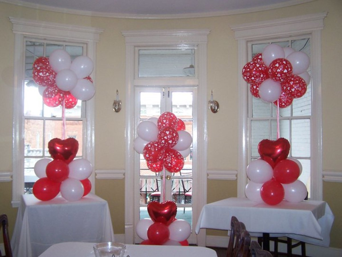 Party balloons make festive party decorations.
