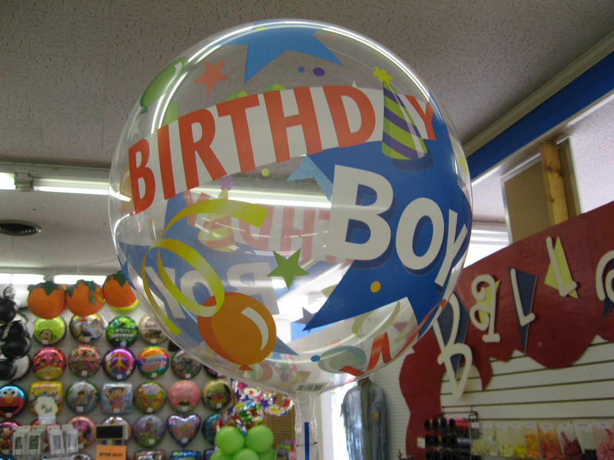 Bubble Balloons can be stuffed with smaller balloons or left empty.